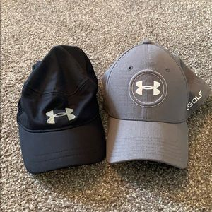 Bundle of Two Under Armour Golf Hats